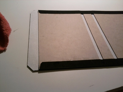 Making the cloth-bound case (hardcover).