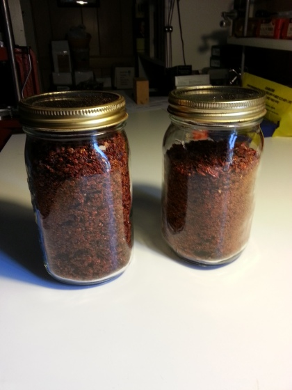 Quart jars of powdered evil.